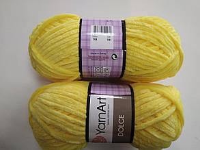 Пряжа для вязания Дольче Yarnart желтый 761