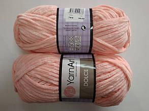 Пряжа для вязания Дольче Yarnart персиковый 764
