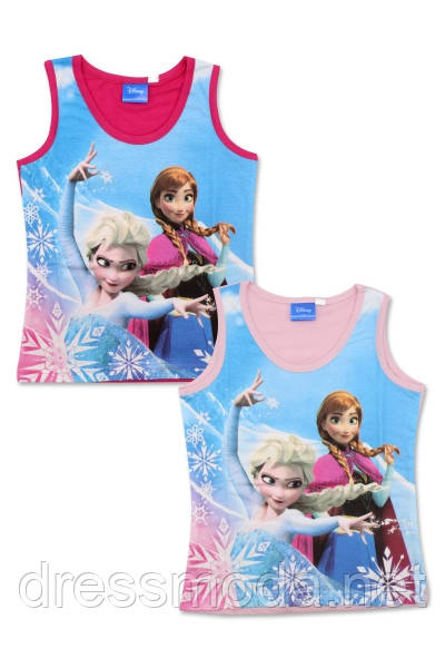 Майки трикотажные для девочек Frozen 4-10 лет