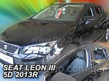 """Дефлекторы окон вставные на Seat Leon 5D с 2013 г. """"Heko"""""""