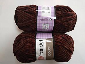 Пряжа для вязания Дольче Yarnart коричневый 775