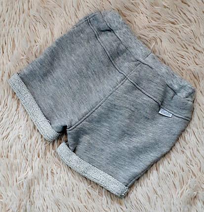 Шорты трикотажные на девочку летние серого цвета ТМ Бемби (Украина) 74, фото 2
