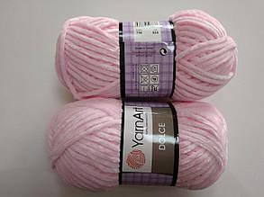 Пряжа для вязания Дольче Yarnart розовый 750