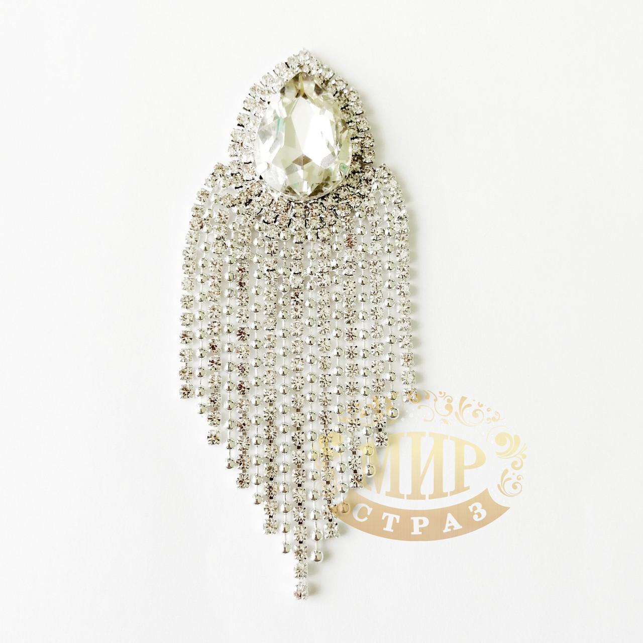 Хрустальный декор, цвет Crystal, размер 3,5х10см, 1 шт