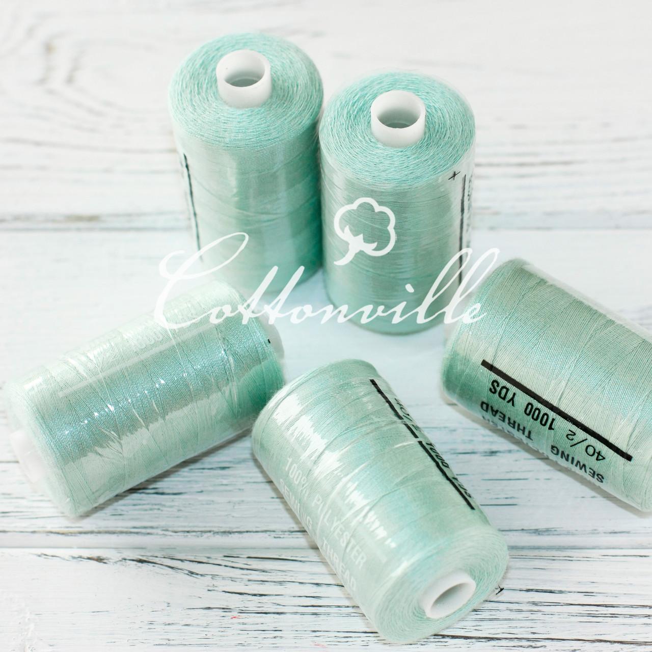 Нитки швейные 40s/2 прочные (1000Y м) цвет пыльный мятный
