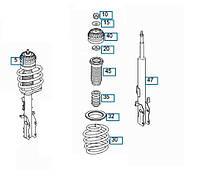 Комплект амортизатор (передний) MB Vito (W639) 03-, Б/У, A6393203613 KOM