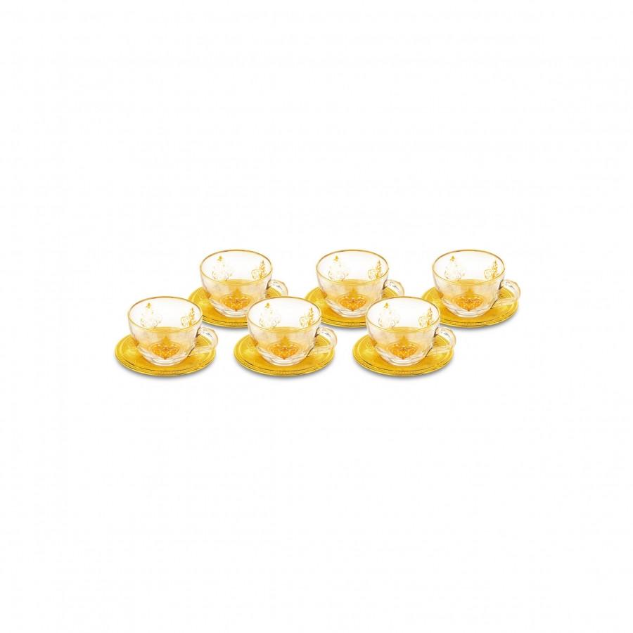Набор восточных чашек для чая Doreline с позолотой на 6 персон