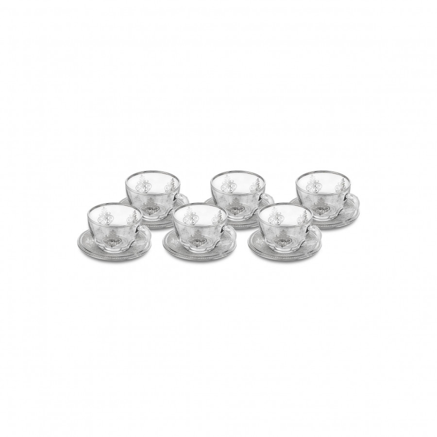 Чайные чашки Doreline с серебром 6 штук