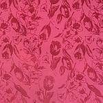 Шарф (палантин) шелковый с бахромой,  крепдешин, павлопосадскаий, розовый,  размер 43х150 см, рис.3501-2, фото 2