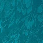 Шарф (палантин) шелковый с бахромой,  крепдешин, павлопосадскаий, зеленый,  размер 43х150 см, рис.7801-2, фото 2
