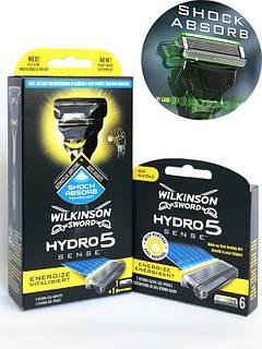Станок Schick Wilkinson Sword Hydro 5 Sense Energize 1 картридж + кассеты Hydro 5 Sense Energize (6 шт.) 01145