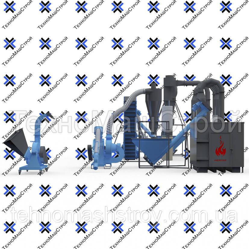 Полный цикл гранулирования (мини завод для производства пеллет)