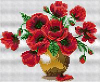 Алмазная вышивка АВ 4030 Цветы (полная зашивка)
