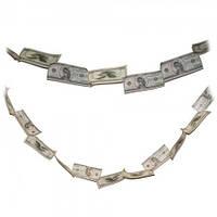 Денежная гирлянда Доллары, Оригинальные подарки и идеи для них, Оригінальні подарунки та ідеї для них