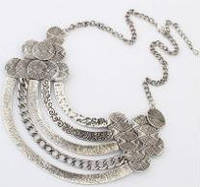 Ожерелье колье серебро антик tb1132