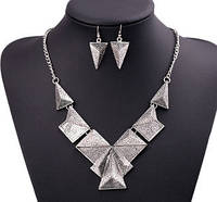 Набор ожерелье и серьги серебро tb1218