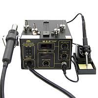 Паяльная станция W.E.P. 952D+ компрессорная фен + паяльник, металл корпус