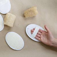 Мочалка двухсторонняя из люфы и хлопка, натуральная губка, эко губка для посуды, люфа, фото 1