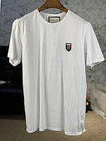 Gucci T-Shirt with Web Crest Bee White, фото 1