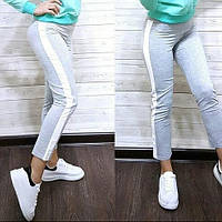 Женские трикотажный штаны с лампасами