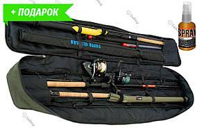 Чехол для удилищ SkyFish Олива 150 см с фиксаторами