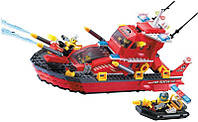 Детский конструктор Brick Пожарный катер 906 340 деталей (10-99-906)
