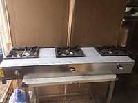 Газовая плита промышленная 3-х конфорочная Görkem SGO 30 профессиональная для общепита (для кафе и ресторанов)