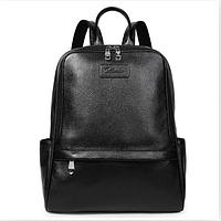 Рюкзак женский кожаный Bostanten Черный Black
