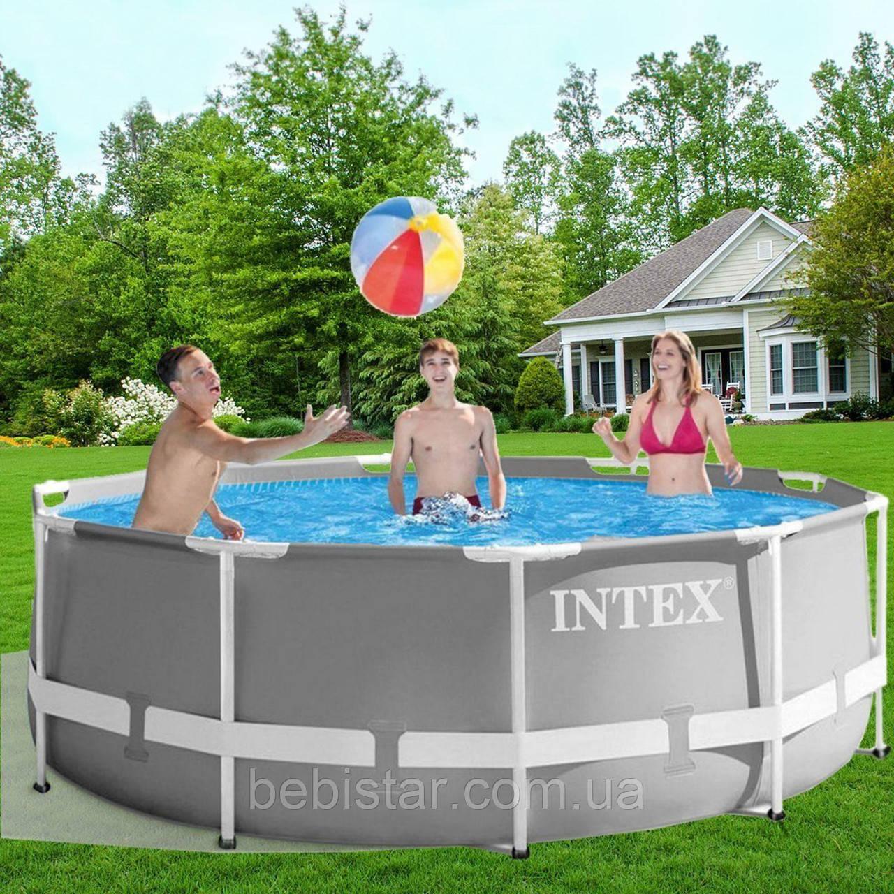 Каркасный круглый бассейн INTEX (26706) с фильтр-насосом, лестницей диаметр 305 см, высота 99 см