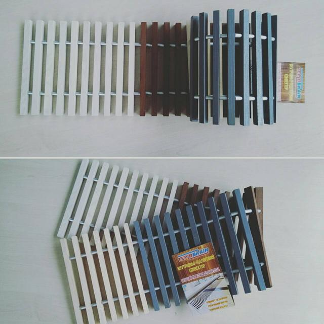 покраска решетки для конвектора в пол