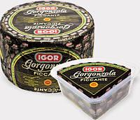 Сыр Igor Gorgonzola picante 1,5 кг (Четверть головки в пластиковом контейнере)