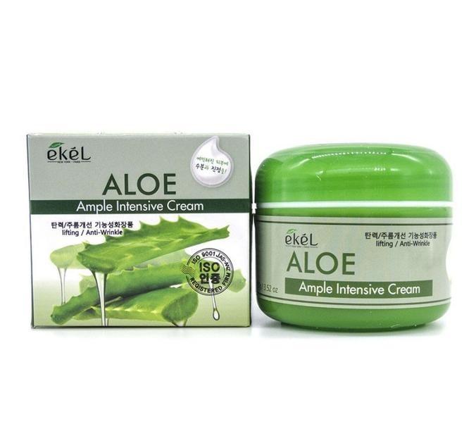 Ампульный крем для лица с алое Ekel Ample Intensive Cream Aloe