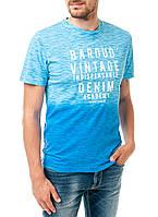 Мужская футболка Pierre Cardin  голубая со светлым переходом, оригинал