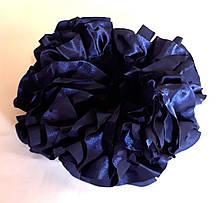 Гумка на пучок-гульку, атласна синя