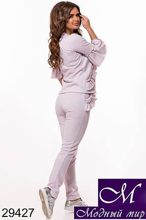Женский спортивный летний костюм пудра (р. 42, 44, 46) арт. 29427, фото 2