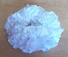 Гумка на пучок-гульку, атласна біла