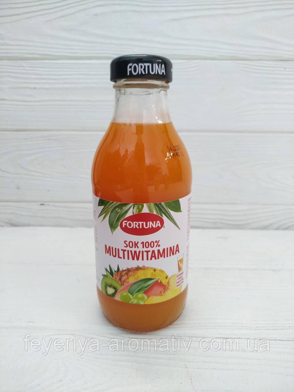 Сок мультивитаминный Fortuna Multiwitamina sok 100%, 300мл (Польша)