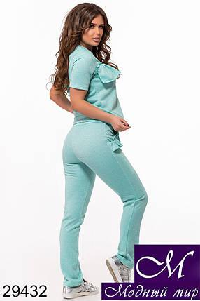 Женский бирюзовый спортивный костюм лето (р. 42, 44, 46) арт. 29432, фото 2
