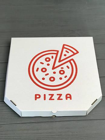 Коробка для пиццы c рисунком Pizza 400Х400Х40  мм (Красная печать), фото 2