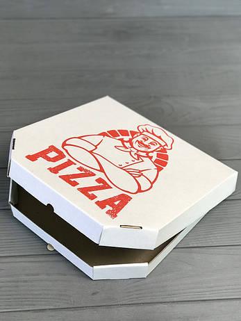 Коробка для пиццы с рисунком Cook 350Х350Х35  мм (Красная печать), фото 2