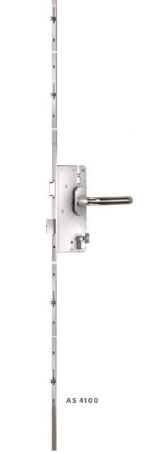 Замок-рейка KFV 4100. 25/F16/92, 4 цапфи, фал. защіпкою, управління від ручки