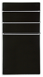 Полотенцесушитель стеклокерамический HGlass Basic 5010 B (черный), фото 2