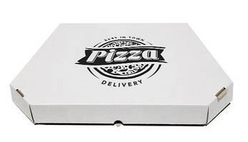 Коробка для пиццы с рисунком Town 350Х350Х35  мм. (чёрная печать), фото 2