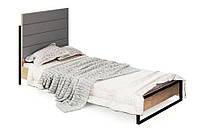 Кровать 1-сп 0,9 м  Лофт Дуб артизан (Світ Меблів TM)