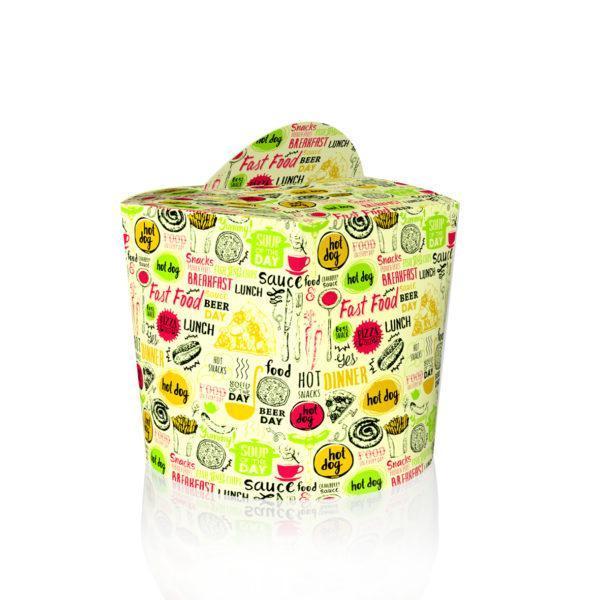 Коробка для лапши и салатов 600 мл. Светлая