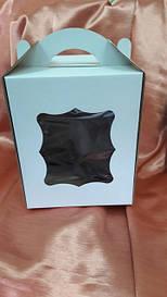 Коробка для пасхи-кексов 170*170*210 мм. белая мелованная