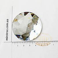 Клеевые круглые камни, цвет Crystal, 52 мм, 1шт