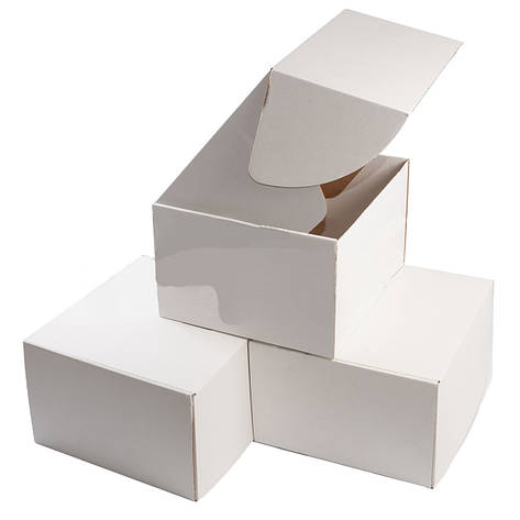 Картонная упаковка 270х220х110, мм. белая, фото 2