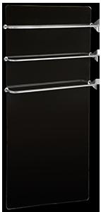Конструкция стеклокерамического полотенцесушителя Hglass GHT 5010 B