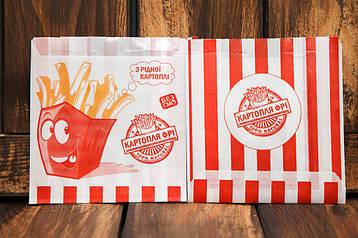 Упаковка для картофеля фри средняя (100-150г) 1786, фото 2